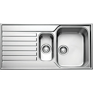 Franke Ascona 1.5 Bowl Reversible Sink - Stainless Steel