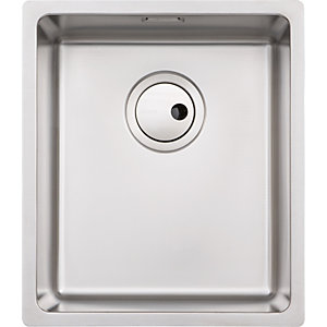 Abode Matrix 1 Bowl Medium Stainless Steel Kitchen Sink