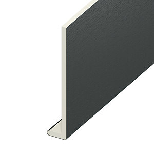 Wickes PVCu Window Fascia Board - 225 x 9mm x 3m Anthracite Grey