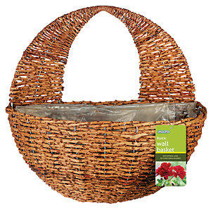 Image of 12in Rustic Hanging Wall Basket