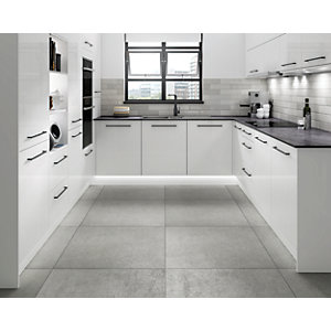 Boutique Flair Gradient Plain Grey Ceramic Wall Tile 300 x 75mm