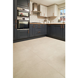 Boutique Andora White Glazed Porcelain Wall & Floor Tile 790 x 790mm