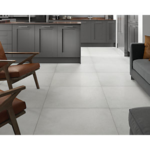 Boutique Chamonix White Glazed Porcelain Wall & Floor Tile 790 x 790mm