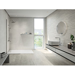 Boutique Vellore Grey Structure Ceramic Wall Tile 850 x 280mm