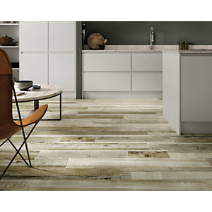 Boutique Kauri Natural Glazed Porcelain Wood Effect Wall & Floor Tile 1140 x 200mm