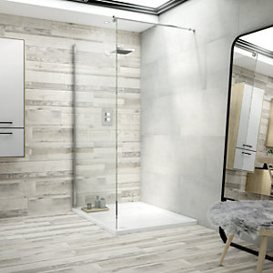 Boutique Kauri Grey Glazed Porcelain Wood Effect Wall & Floor Tile 1140 x 200mm