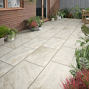 Image of Botany Beige Matt Glazed Outdoor Porcelain Tile 900 x 600mm