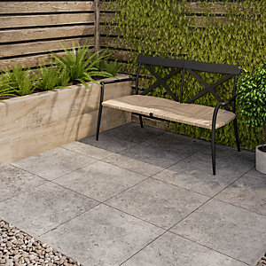 Sandsend Silver Matt Glazed Outdoor Porcelain Tile 900 x 450mm