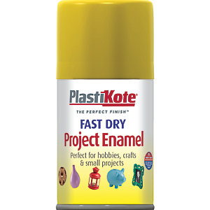 Plastikote Fast Dry Enamel Aerosol Spray - Brass 100ml