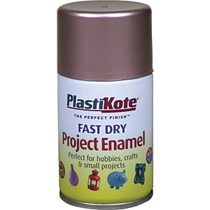 Plastikote Fast Dry Enamel Aerosol Spray - Rose Gold 100ml