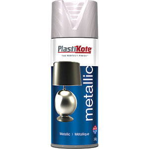 Plastikote Metallic Spray Paint - Brushed Nickel 400ml