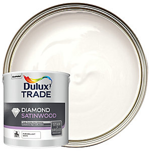 Dulux Trade Diamond Satinwood Paint - Pure Brilliant White 2.5L