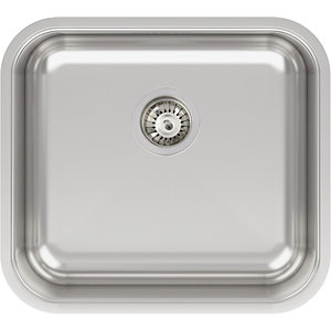 Image of Abode Melbourne 1 Bowl Kitchen Sink - Stainless Steel