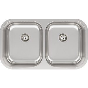 Image of Abode Melbourne 2 Bowl Kitchen Sink - Stainless Steel