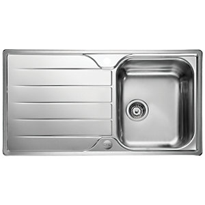 Leisure Albion 1 Bowl Reversible Inset Stainless Steel Kitchen Sink