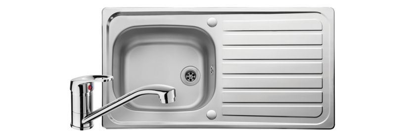 Reversible Stainless Steel Kitchen Sink & Tap