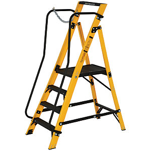 Youngman Megastep 4 Tread Fibreglass Platform Stepladder