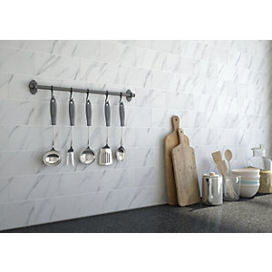 Wickes Carrara Matt Ceramic Wall Tile - 200 x 100mm