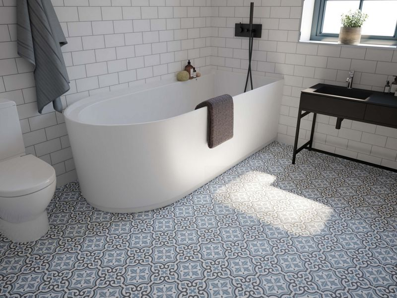 Melia Blue Patterned Tiles