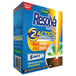 Image of Resolva Weedkiller 2 Action Concentrate Liquid Shots 6 Tube UK