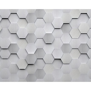 ohpopsi Metal Hexagons 3D Wall Mural
