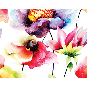 ohpopsi Watercolour Flowers Wall Mural