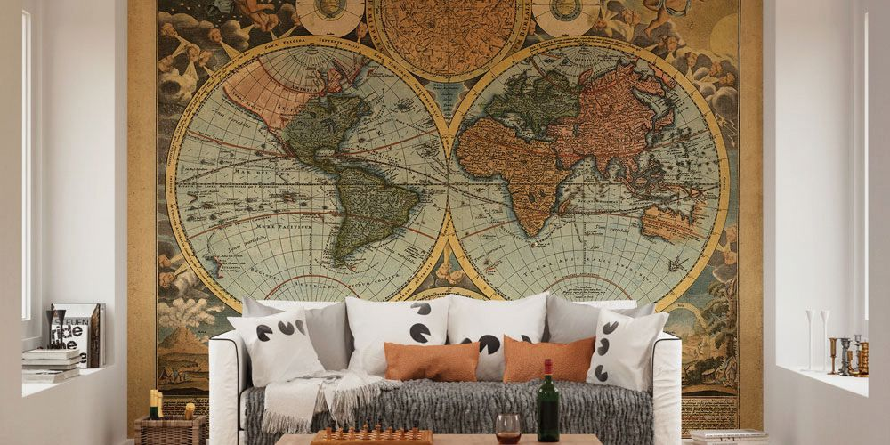 Landscape and map murals