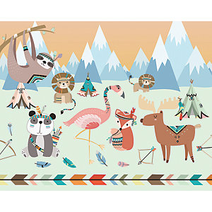 Image of Animal Reservation Large Wall Mural 3m (Wide) x 2.4m (High)