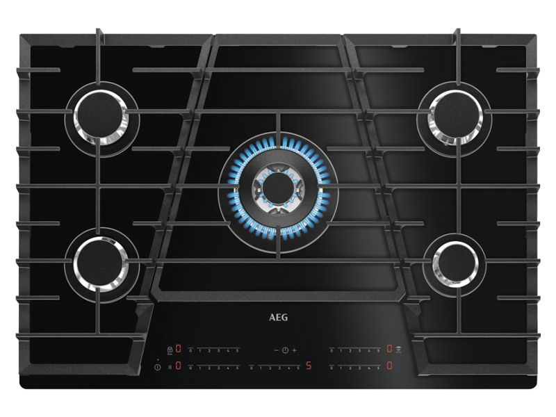 AEG 75cm Gas On Glass Hob With TouchSure