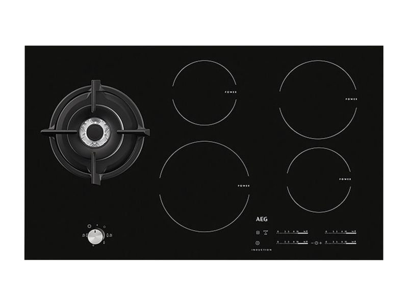 AEG 90cm Induction Hob With Wok Burner