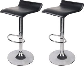 Miraculous Black Chrome Effect Bar Stools Pack Of 2 Gmtry Best Dining Table And Chair Ideas Images Gmtryco