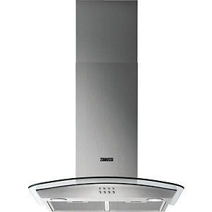 Zanussi 60cm Chimney Hood with Curved Glass ZHC62352X