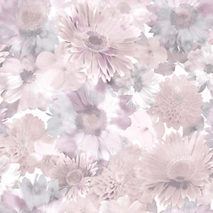 Superfresco Easy Summer Garden Wallpaper Pink - 10m