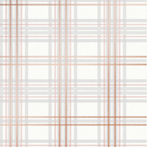 Superfresco Easy Country Tartan Wallpaper Pink - 10m