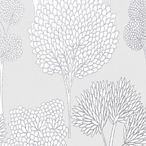 Superfresco Easy Whimsical Wallpaper Grey - 10m