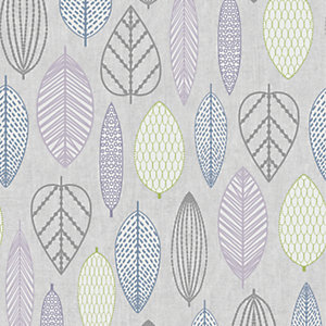 Superfresco Easy Scandi Leaf Wallpaper Lilac - 10m