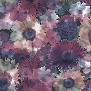 Superfresco Easy Midnight Garden Wallpaper Lilac - 10m