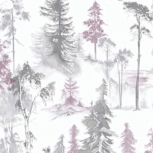 Superfresco Easy Mystical Forest Wallpaper Lilac - 10m
