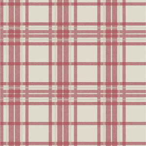 Superfresco Easy Country Tartan Wallpaper Red - 10m