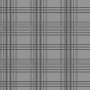 Superfresco Easy Country Tartan Wallpaper Charcoal - 10m