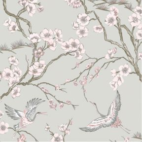 Sublime Japan Wallpaper Pink 10m