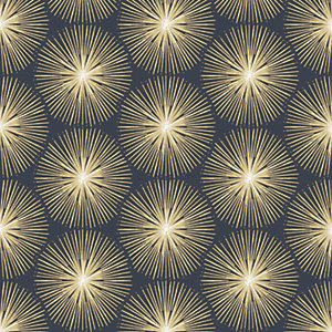 Image of Sublime Fire Circle Wallpaper Blue - 10m