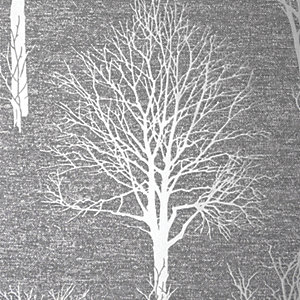Boutique Landscape Wallpaper Charcoal - 10m
