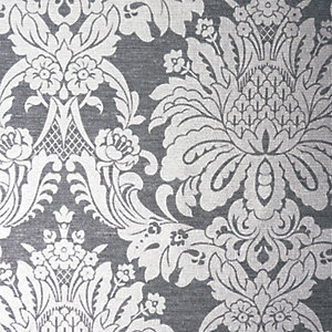 Boutique Vogue Wallpaper Charcoal - 10m