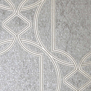 Boutique Deco Geo Wallpaper Taupe - 10m