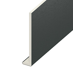 Wickes PVCu Window Fascia Board - Anthracite Grey 175mm x 9mm x 5m