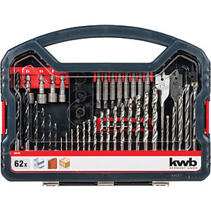 Image of Einhell KWB 62 Piece Combination Drill Bit Set