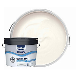Wickes Trade Ultra Matt Pure Cotton 10l