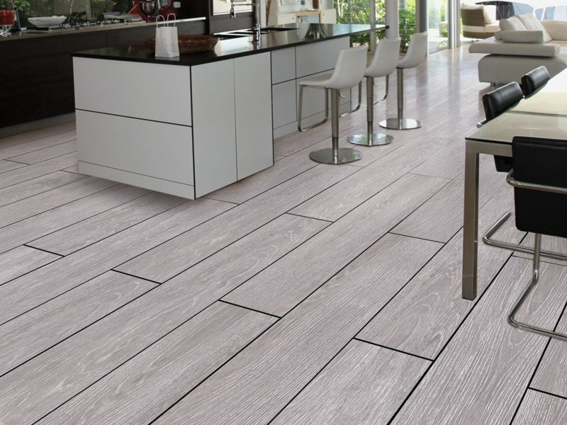 Kielder Light Grey Wood Effect Tiles