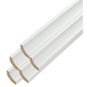 Vitrex White Flooring Trim 2m - Pack of 5